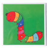 Card, Caterpillar, H.Simon , Illustration aria