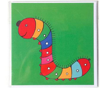 Doppelkarte, Caterpillar, H. Simon, Illustrationsarie