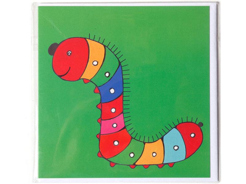 Double carte, Caterpillar, H. Simon, Illustration aria
