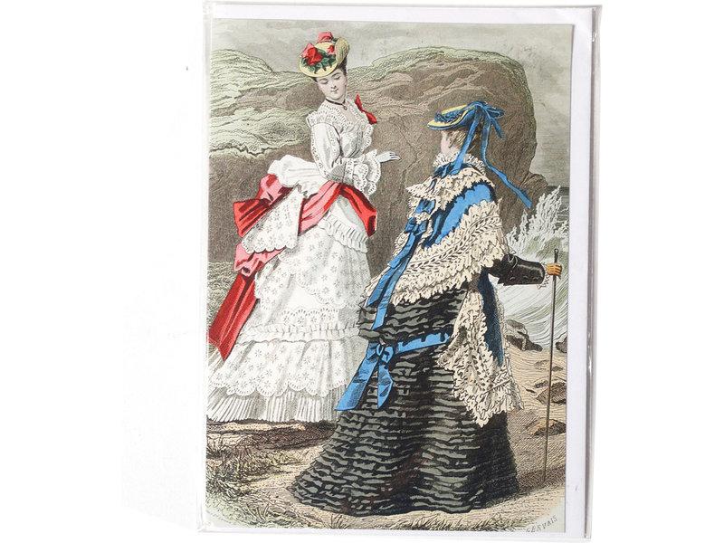 Dubbele kaart, Twee dames aan een rotskust
