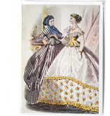 Doble tarjeta, dos damas en blanco y negro