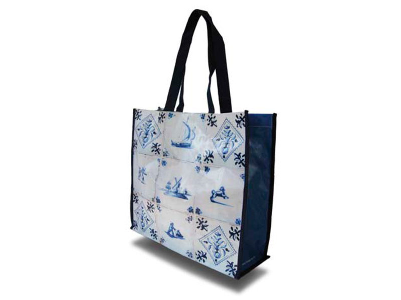 Bolso de compras, azulejos azules de Delft