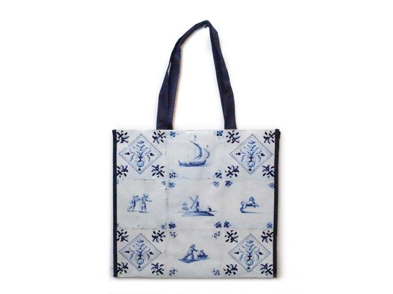 Einkaufstasche, Delft Blue Tiles