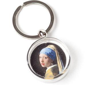 Porte-clés dans une boîte cadeau, Fille avec une boucle d'oreille en perle, Vermeer
