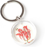 Keyring in giftbox, Red tulip with bee, Marrel