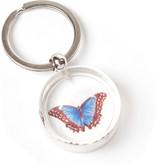 Sleutelhanger in geschenkverpakking, Vlinder, Merian
