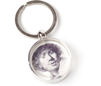 Porte-clés en coffret cadeau, Autoportrait Look surpris, Rembrandt