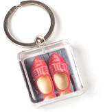 Schlüsselbund in Geschenkbox, rote Clogs