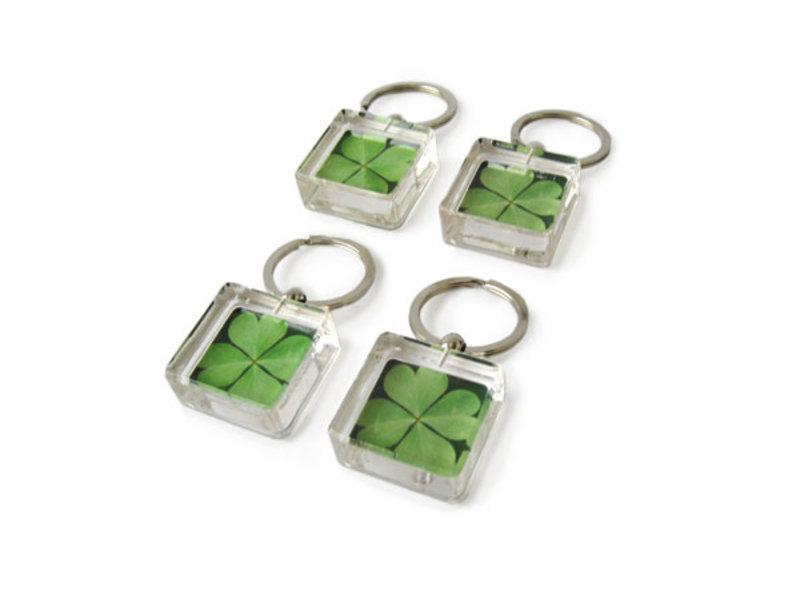 Sleutelhanger in geschenkverpakking, Klavertje Vier