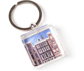 Schlüsselbund in Geschenkbox, Amsterdamer Häuser