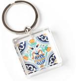 Schlüsselring in Geschenkbox, Delfter blaue Fliese, Blumenvase Polychrom