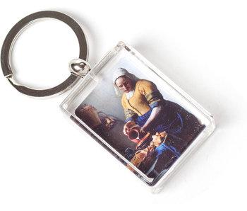 Porte-clés dans une boîte cadeau, Vermeer, la laitière