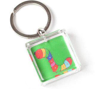 Sleutelhanger in geschenkverpakking, Rups, Simon