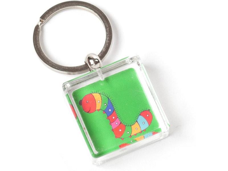 Keyring in giftbox, Caterpillar, Simon