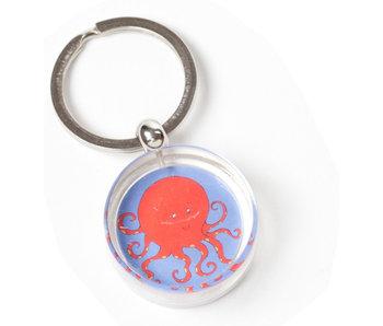 Sleutelhanger in geschenkverpakking, Octopus, Simon