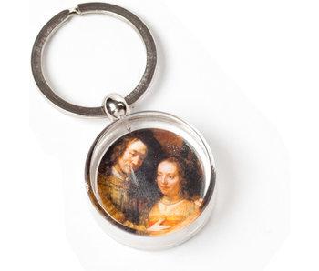 Sleutelhanger in geschenkverpakking, Het Joodse Bruidje, Rembrandt