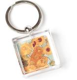 Keyring in giftbox, Sunflowers, Van Gogh