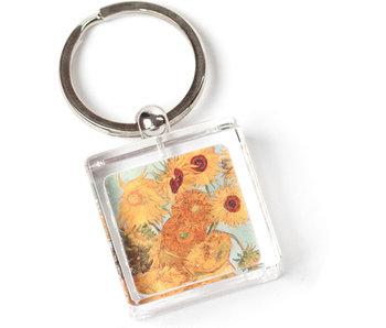 Llavero en caja de regalo, Girasoles, Van Gogh