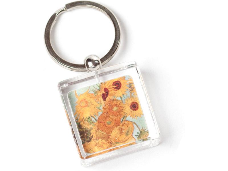 Sleutelhanger in geschenkverpakking, Zonnebloemen, Van Gogh