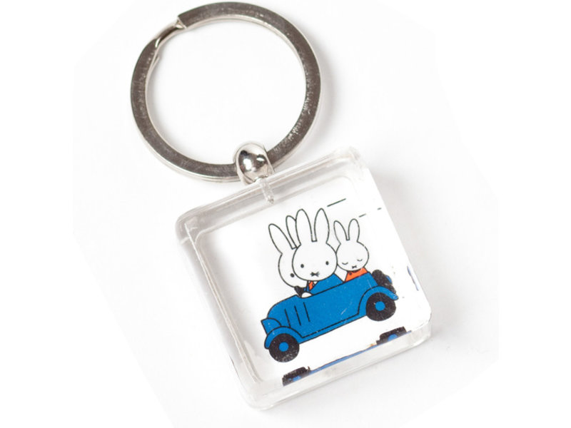 KeyRingz in giftbox , Miffy driving a car