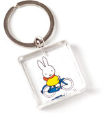 KeyRingz in giftbox W, Miffy riding a bike
