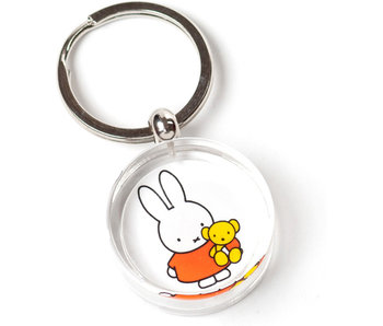 KeyRingz in giftbox , Miffy holding a teddy bear