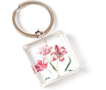 Porte-clés en coffret cadeau, Trois tulipes, Merian