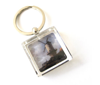 Porte-clés dans une boîte cadeau, Molen, Van Ruisdael