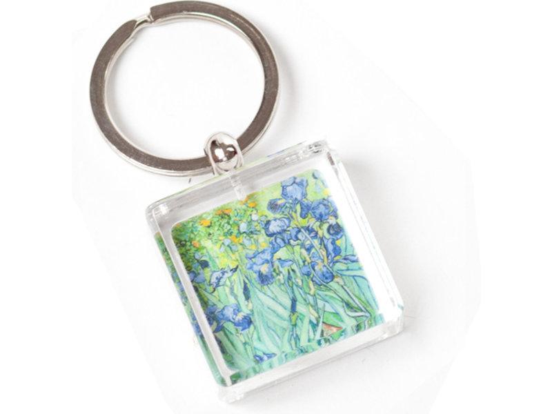 Porte-clés dans une boîte cadeau, Irises, Van Gogh