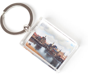 Keyring in giftbox, View on Delft, Vermeer