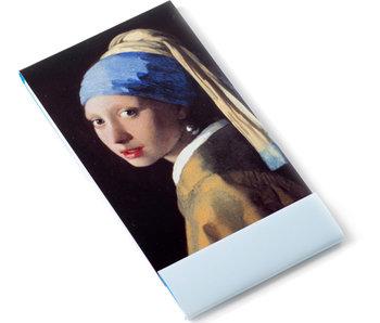 Notelet, Meisje met de parel, Vermeer
