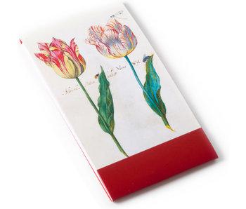 Notelet, Twee tulpen met insecten, Marrel