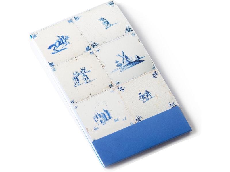 GoGoNotes,  sechs blaue Delfter Fliesen