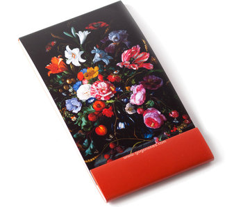 Notelet, Florero con flores, De Heem