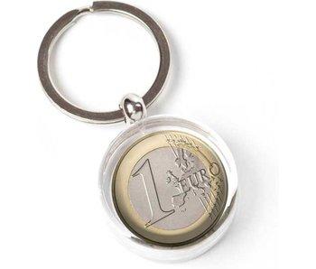 Sleutelhanger in geschenkverpakking, Euro Munt