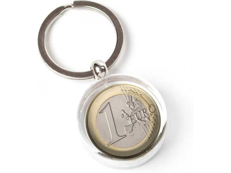 Keyring in giftbox, Euro Coin
