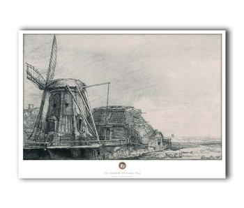 Poster ,50 x 70 , De molen, Rembrandt