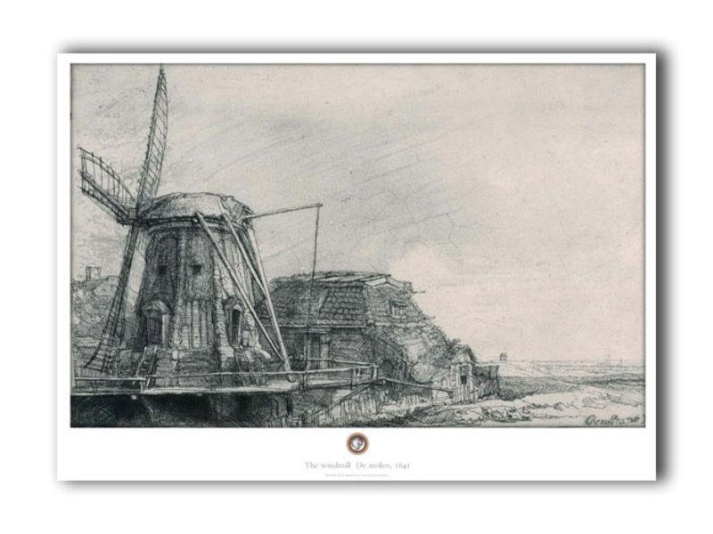 Affiche, 50 x 70, Le Moulin, Rembrandt