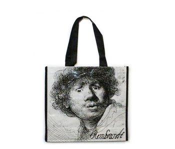 Shopper, Zelfportret met verbaasde blik ,Rembrandt