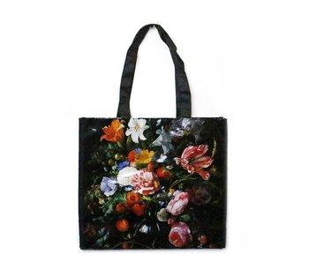 Sac cabas, De Heem, Vase avec fleurs