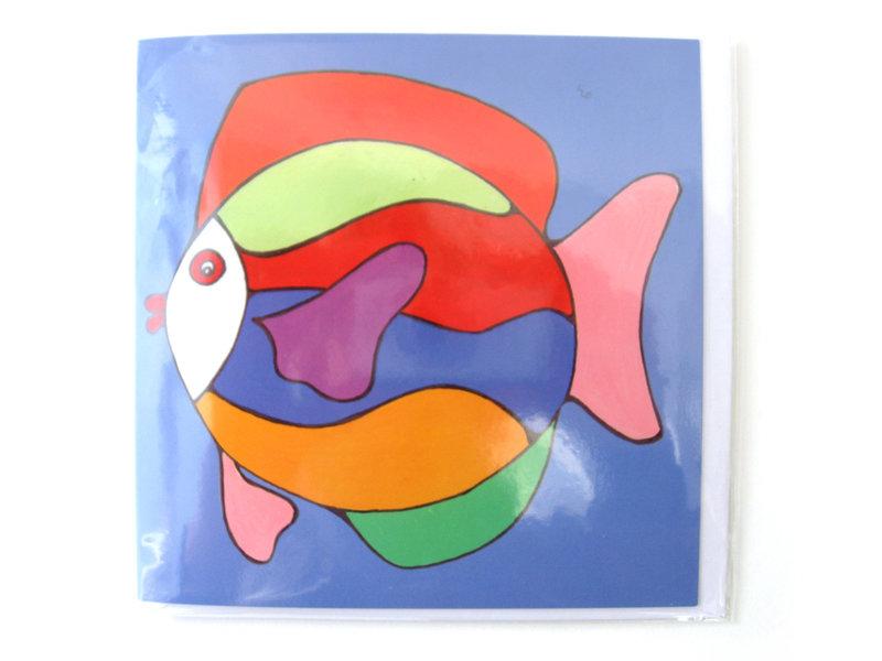 Doppelkarte, Fisch, H. Simon, Illustrationsarie
