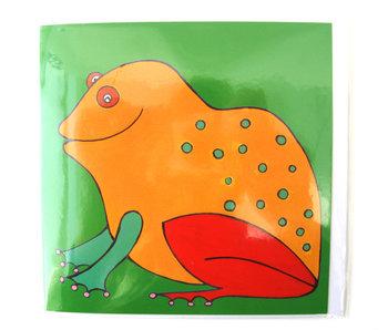 Double carte, grenouille, H. Simon, illustration aria