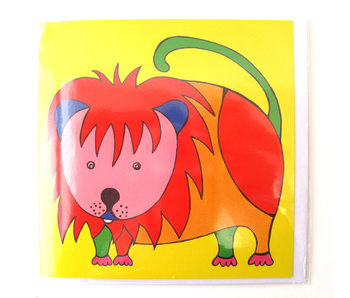Card, Lion, H. Simon, Illustration arie