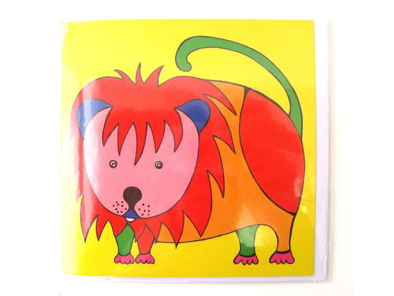 Card, Lion, H. Simon, Illustration