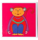 Card, Monkey, H. Simon, Illustration aria