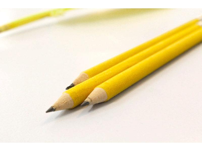 Bleistift mit samtige Oberfläche, Gelb