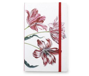 Cuaderno de tapa blanda A6, tres tulipanes, Merian