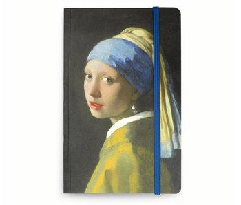 Softcover-Notizbuch A6 , Mädchen mit einem Perlenohrring, Vermeer