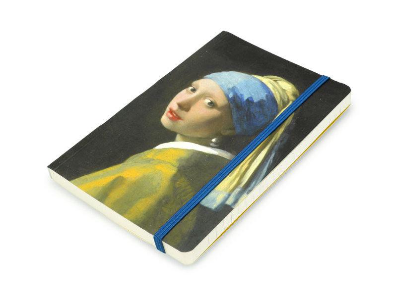 Carnet à couverture souple A6 , Fille avec une boucle d'oreille perle, Vermeer