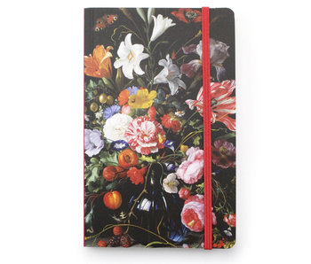 Softcover Notebook A6, Vase with Flowers, De Heem